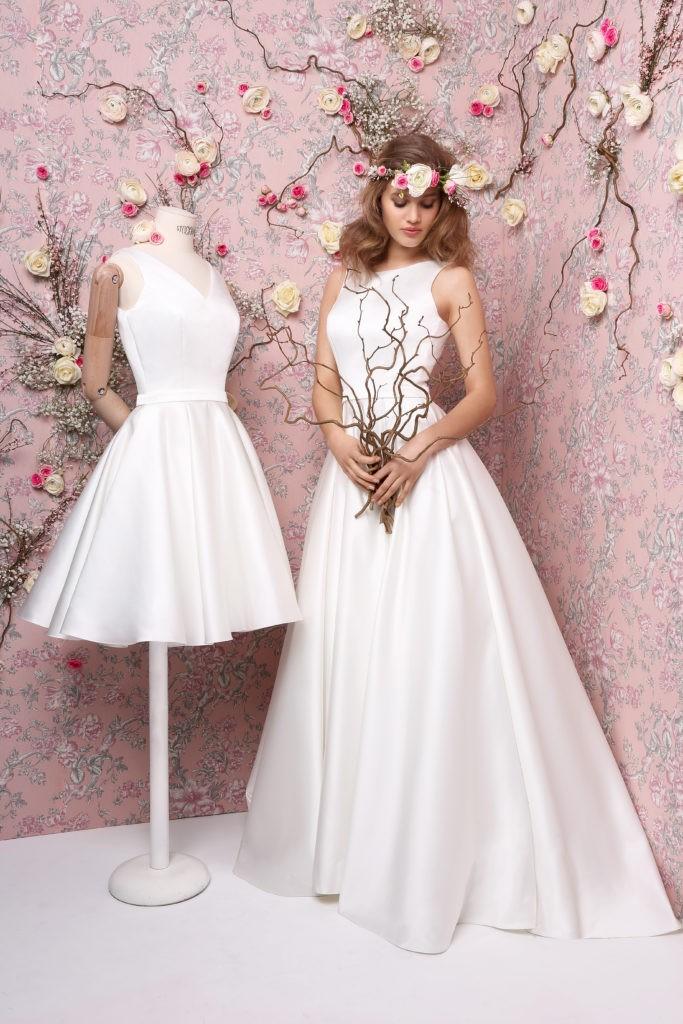 GENTIANE -GENTILLE - Robe de mariée courte collection 2019 Pour un Oui by Cymbeline